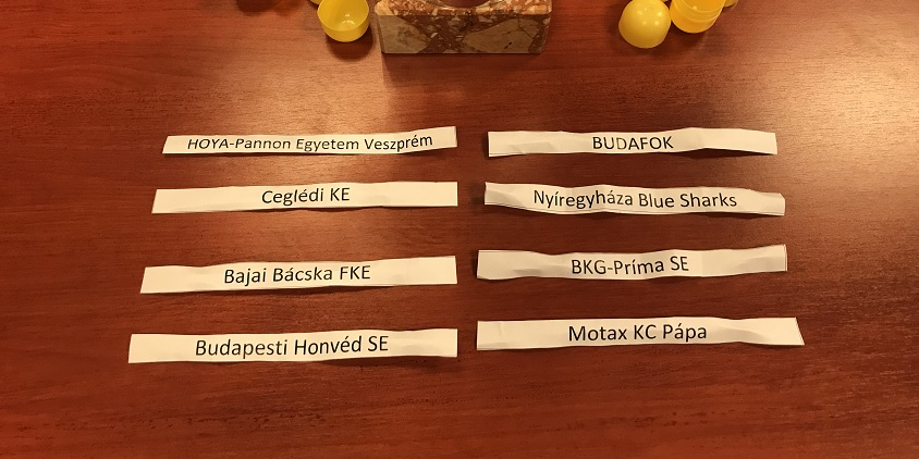 Férfi Hepp Kupa: A negyeddöntők párosításai