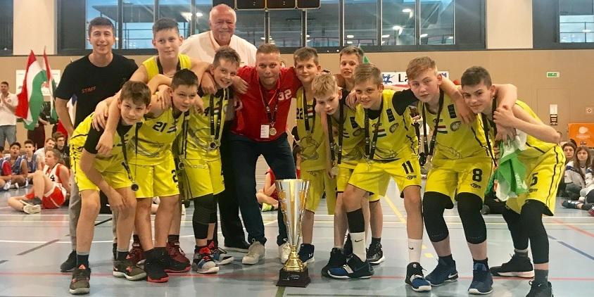 Nemzetközi tornát nyertek a Soproni Tigrisek U12-es fiai