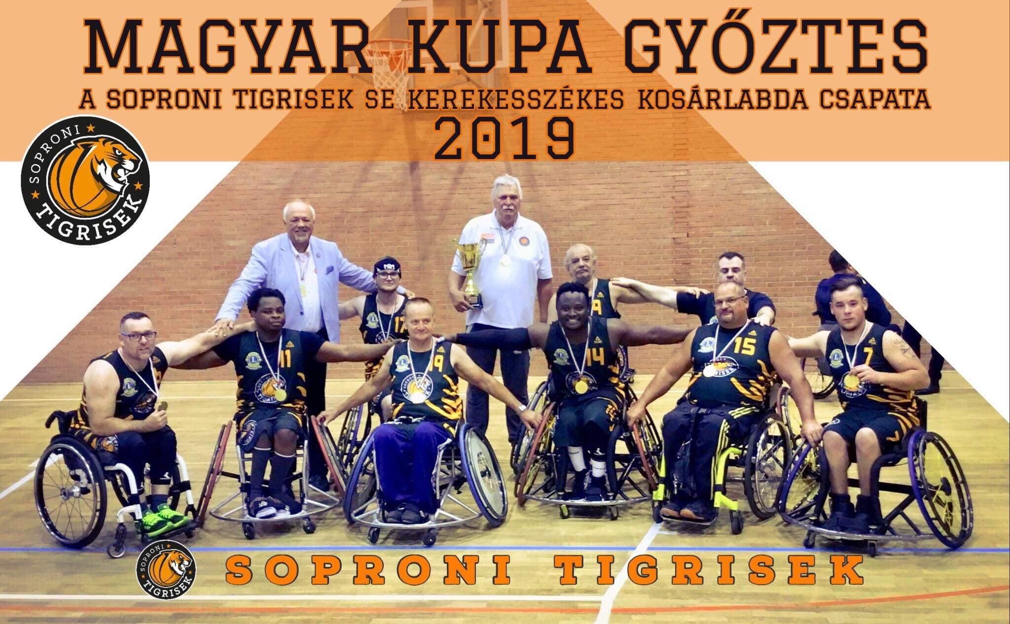 Megvédte kupaelsőségét a Soproni Tigrisek kerekesszékes csapata