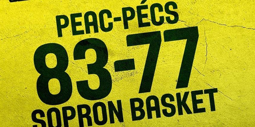 Női NB I: Elvette a Sopron veretlenségét a PEAC
