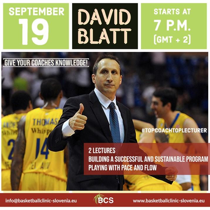 Online edzőtovábbképzés David Blatt-tel