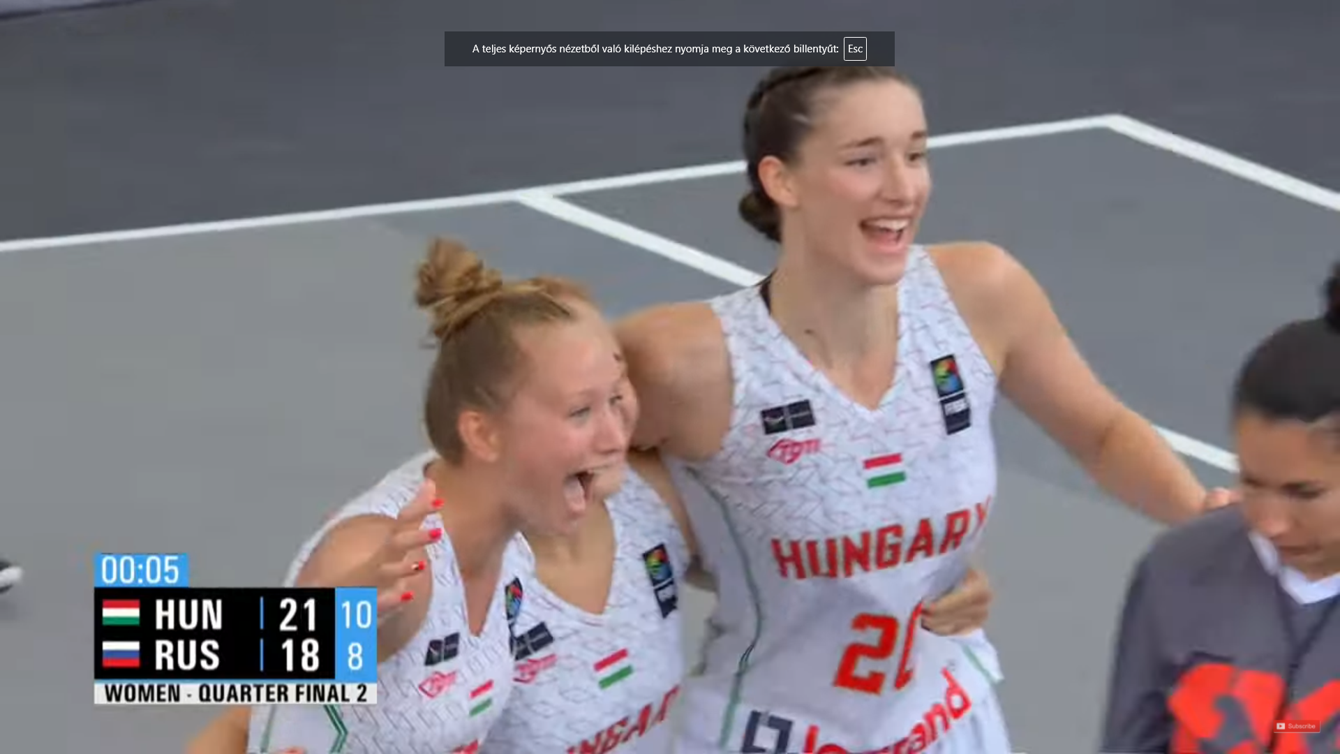 Oroszország bravúros legyőzésével elődöntős női válogatottunk a 3x3-as U18-as vb-n!