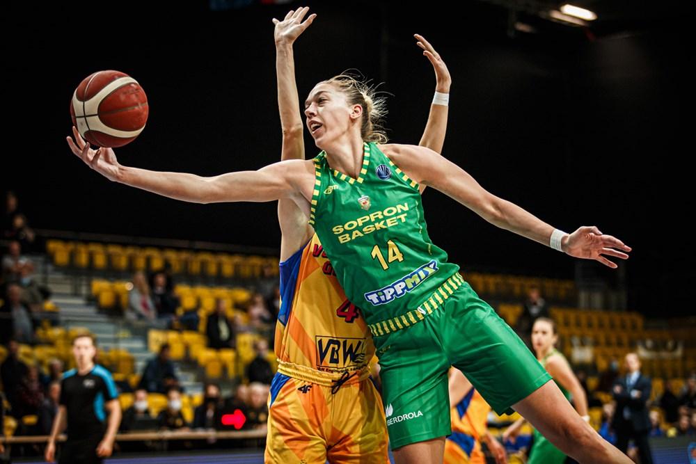 Női Euroliga: A Sopron második győzelmét is megszerezte