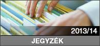 Jegyzék 2013/2014