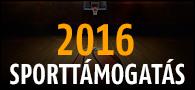 2016 Sporttámogatás