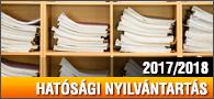 Hatósági nyilvántartás 2017/2018