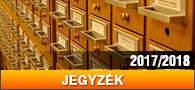Jegyzék 2017/2018